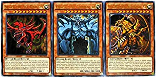 three egyptian god cards deck