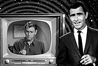 Rod Serling and Earl Holliman in The Twilight Zone by Vintage TV Screen Episode Where is Everybody? 18x24 Poster