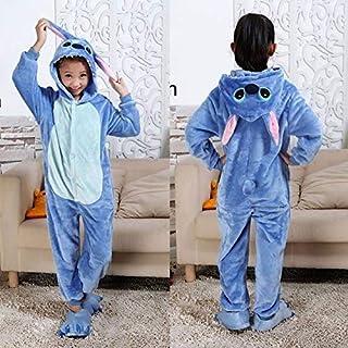 Pijama Unicornio Ropa de Noche de Kigurumi niños for Niños Niñas Unicornio Pijama de Franela Stich niños Pijamas Unicornio Animal fijó Onesies de Invierno (Color : C, Size : 12T)