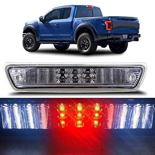 High Mount Brake Light LED 3rd Brake Light AL3Z-13A613-E,AL3Z13A613G,FO20890104 LED Rear Light Chrome+Clear Lens fit for 09-14 FORD F150 F-150 FULL L.E.D 3RD THIRD BRAKE CARGO REAR TAIL LIGHTS CLEAR