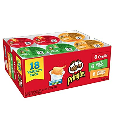 Pringles Snack Stacks Potato Crisps Chips, Flavored Variety Pack, 18 Count