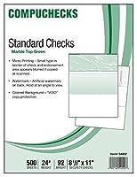 500 Blank Check Stock - Check on Top - Green Marble [並行輸入品]