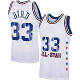 DFGHU Camiseta de manga corta para hombre de baloncesto de secado rápido y transpirable #33, color blanco