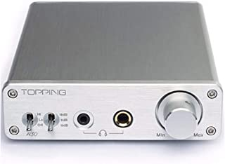 Topping A30 HiFi Desktop Headphone Amplifier 3.5mm/6.35mm Headphone Output Silver (A30 Silver)