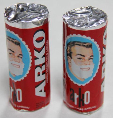 Arko Shaving Soap Stick, White, Pack of 2, 75g each
