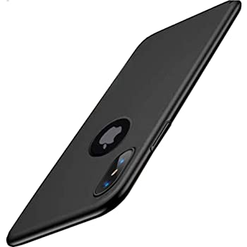 Amozo® - Anti Dust Plug Series - Shockproof Slim Anti Slip Back Cover Case Compatible for Apple iPhone X/XS (Black)