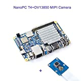 NanoPC-T4 RK3399 - Mini PC con doppia fotocamera con Gbps Ethernet, WiFi e Bluetooth, supporto OpenWrt, intelligenza artificiale e deep learning, Bundle con modulo fotocamera