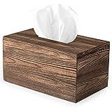 Ilyapa Wood Tissue Box Cover Rectangular - Rustic Farmhouse Wooden Tissue Holder