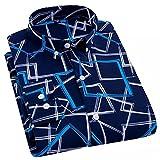HDDFG Hombres Primavera Otoño Camisa estampada Casual Antiarrugas Cómodas camisas delgadas de manga larga (Color : B, Size : 2XL code)