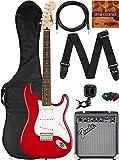 Fender Squier Bullet Stratocaster HT - Dakota Red Bundle with Frontman 10G Amplifier, Gig Bag, Instrument Cable, Tuner, Strap, Picks, and Austin Bazaar Instructional DVD