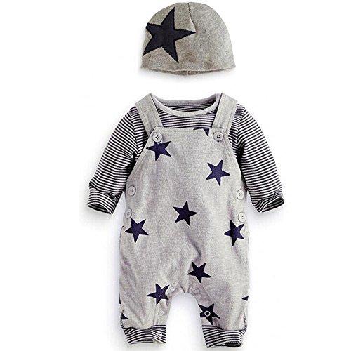 Traje Bebé, LANSKIRT 3PCS Recién Nacido Bebé Niño