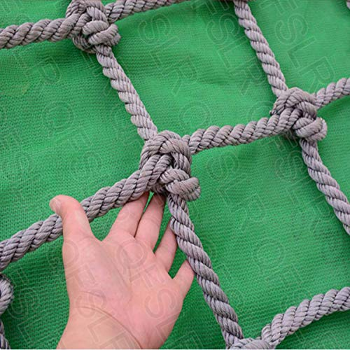 QFSLR Garden Climbing Frame Net for Kids Indoor And Outdoor Playing, Cargo Net Fun for The Children's Playground, Max Load 1500 Kg (3300 Lb) Rope Climbing Net,20mm,2 * 3m(6.6 * 9.8ft)