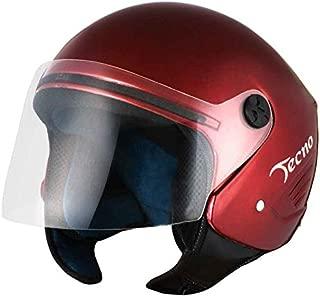 SARTE Tecno Open Face Motorbike Helmet (Matty Red; Medium/58 cm)