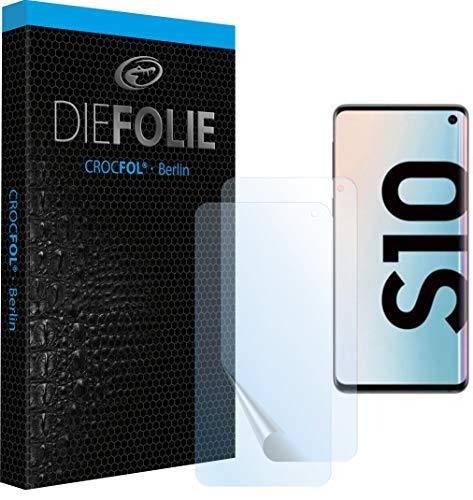 Crocfol Schutzfolie vom Testsieger [2 St.] kompatibel mit Samsung Galaxy S10 - selbstheilende Premium 5D Langzeit-Panzerfolie inkl. Veredelung - für vorne, hüllenfreundlich