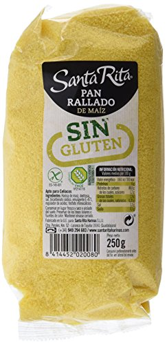 Santa Rita Pan Rallado de Maíz sin Gluten - 5 Paquetes de