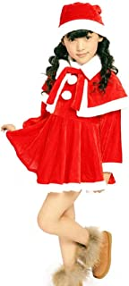Christmas santa costume kids Santa Fancy Dress for boys girls with Santa Hat