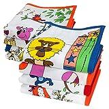 Merrysquare - Fazzoletti per Bambini - 6 Pezzi -100% Cotone - Misura Piccola, 26 x 26 cm - Modello Bambino