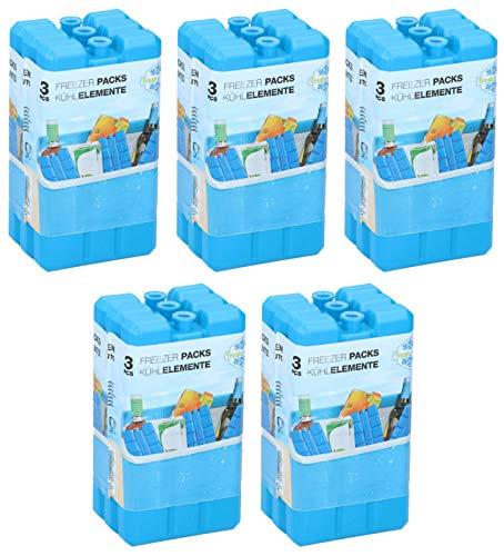 Peters-Living 15x Kühlakkus Kühlelement 3518650 Kühlpack für Kühlbox je 200ml Set