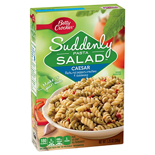 Betty Crocker Suddenly Salad, Caesar Pasta Salad Dry Meals, 7.25 Oz Box