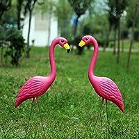ガーデンの装飾 家の装飾 お庭の置物 フラミンゴ 雑貨 ピンクフラミンゴ かわいい動物 飾りもの 鳥飾り ガーデニングインテリア室内 ガーデン 園芸置物 お洒落 空間 店舗オフィスにも (2個)