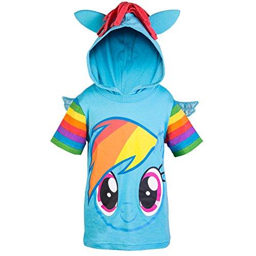 My Little Pony Hooded Shirt - Rainbow Dash, Twilight Sparkle, Pinky Pie - Girls (Rainbow Dash, 5)