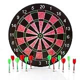 Harbre Jeu de fléchettes magnétiques avec Cible 41 cm et 12 Fléchettes, 6 Verte et 6 Rouge