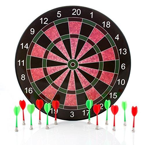 Harbre Pizarra magnética para dardos de 40 cm con 6 dardos + 6 dardos