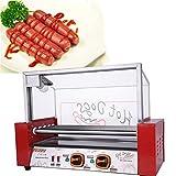 Angela Machine électrique Commerciale de Rouleau du cuiseur 7 de Gril à Hot-Dog, Saucisse Faisant Griller des appareils de Hot...