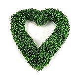 cherrypop Garden Products Topiary Boj corazón Topiary puerta colgante amor corazón decoración del hogar