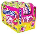 Mentos Chewy & Fresh Breath Mints Candy, Mixed Fruit, 6ct