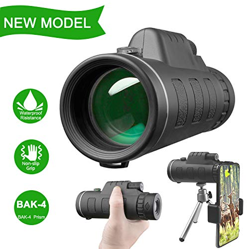 DOTSOG 40X60 High Power Monocular Telescope,Monocular Scope with Smartphone Holder,BAK4 Prism for Concert Bird Watching Hunting Camping Travelling Wildlife