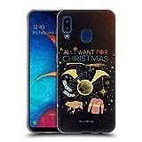 Head Case Designs Licenciado Oficialmente Harry Potter Todo lo Que Quiero para Navidad Reliquias de la Muerte XXXII Carcasa de Gel de Silicona Compatible con Samsung Galaxy A20 / A30 2019