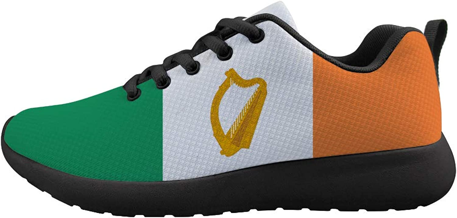 Owaheson Cushioning Sneaker Trail Running shoes Mens Womens Ireland Flag National Emblem