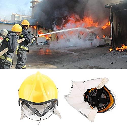 Casco de seguridad, protección contra la radiación Reduce el impacto Casco de bombero anticorrosión para proteger