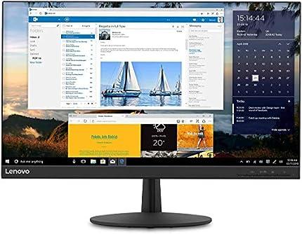 "Lenovo L24q-30 - Monitor de 23.8 "" QHD (2560x1440 pixeles, 16:9, 75Hz, 4ms, 1000:1, IPS, FreeSync, Puertos DP+HDMI, 3 lados sin bordes), Base plástico,Color Negro"