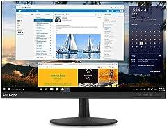 """Lenovo L24q-30 - Monitor de 23.8 """" QHD (2560x1440 pixeles, 16:9, 75Hz, 4ms, 1000:1, IPS, FreeSync, Puertos DP+HDMI, 3 lados sin bordes) - Color Negro"""