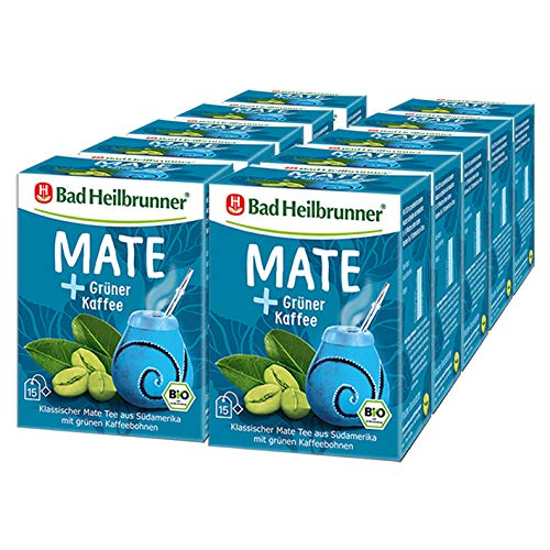 Bad Heilbrunner® Bio Mate + Grüner Kaffee, 10er Pack