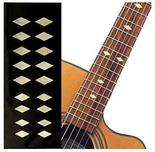 Traditional ダイヤモンド (Aged ホワイト・パール) ギター ベース ウクレレ インレイステッカー F-307DD-AWP