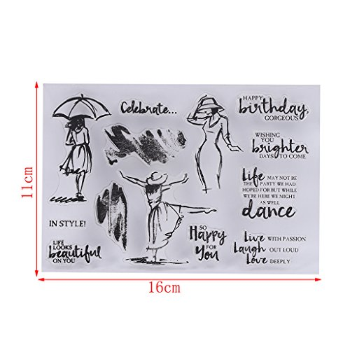 Mimgo SC Series Transparent Silicone Seal Stamp for Handmade DIY Album Scrapbooking Paper Card Craft - SC155