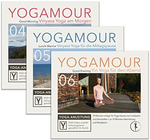 Yoga für jede Tageszeit: Geführte Übungen für Morgens, Mittags und Abends • Yinyasa Flow Yoga & Yin Yoga • YOGAMOUR DVD-Sparpack