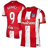 S&L Camiseta Suárez Atlético de Madrid Rojo 2021/22 para Hombre & Niño(Rojo,M)