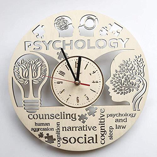 WZCXYX Reloj de Pared de psicología Hecho de Madera bellamente Cortado - Decora tu hogar con Arte Moderno Decoración de Cocina de Dormitorio de habitación Vintage - Tamaño de 12 pulgadasj01