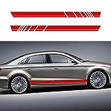 pour General A3 A4 A5 A6 A7 Q2 Q3 Q5 B6 Le Contour de Voiture Amovible Autocollant carrosserie Décoration avec Rayures Graphique Conception extérieur Accessoires Rouge