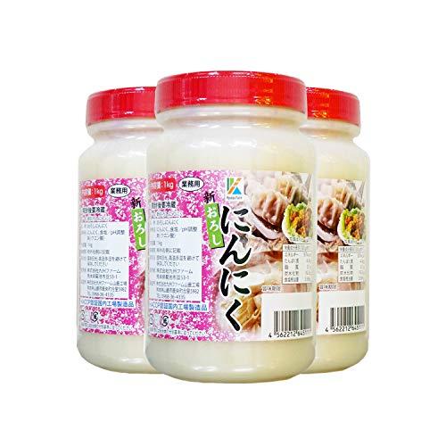 九州ファーム おろしにんにく(有塩)1kg ×3個