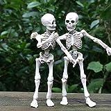 DaPlug Movable Halloween Skeleton, for Halloween Decor Mini Size Posable Portable Hanging Human Skeletons Skull with Movable Joints Halloween Party Decoration Props Kids Toy, Bones Models (3.54 in)