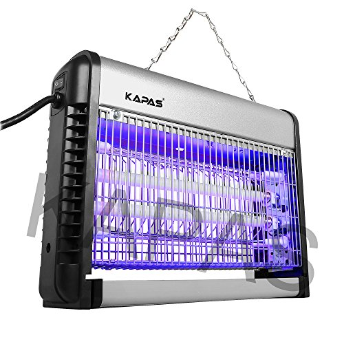 KAPAS KPCM-20D Killer, Ultraviolet(UV) Light Units Electric Zapper Repel-pestic, Silver