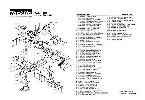 Makita 225001-9-0510 Correa acanalada en V 5-285, pieza de repuesto original 1100