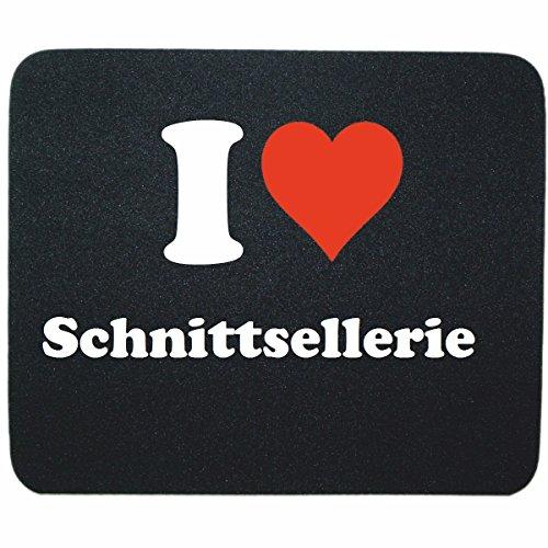 """Gaming Mauspad """"I Love Schnittsellerie"""" in Schwarz, eine tolle Geschenkidee die von Herzen kommt  Rutschfestes Mousepad   Geschenktipp: Weihnachten Jahrestag Geburtstag Lieblingsmensch"""