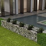 vidaXL Jardinera de Gaviones Rectangular Acero Galvanizado 300x30x50cm Arriate