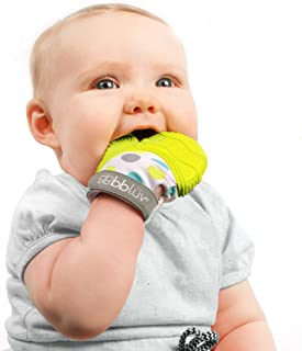 bblüv - Glüv- Baby Teething Mitten - Soothing Glove with Adjustable Strap (Lime)